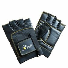 OLIMP Training Gym Weight Lifting Leather Gloves Hardcore ONE+