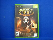 xbox STAR WARS Knights Of The Old Republic II 2 The Sith Lords RPG Game PAL UK