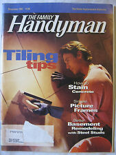 The Family Handyman November 1997 Tiling Tips, Stain Concrete, Picture Frames...