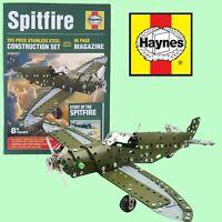 NEW - Haynes Spitfire 285 Piece Metal Model Construction set + 96 Page Magazine