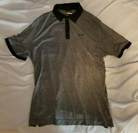 Nike Mens Gray Black XL Dri-Fit Polo Golf Shirt