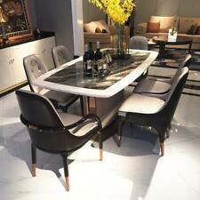 Mármol Diseñador Ess Mesa+ 6 Sillas Set Conjunto Habitación Grupo 7 Piezas Mesas
