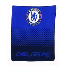 Chelsea FC Fleece Blanket Fade Design Premier Life UK SELLER