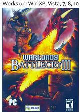 Warlords Battlecry III 3 PC Game