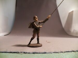 Elastolin 70mm Prewar Composition German Army Telephone Man with Wire Out