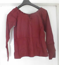 Waist Length Tops & Shirts Red Blouses for Women