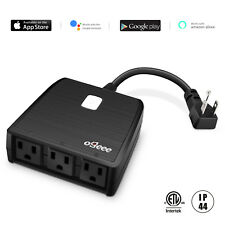 Outdoor Smart Waterproof Plug 3 Outlet  wifi Control Work with alexa/Google Home