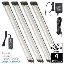 Lightkiwi X8402 12 Inch Cool White LED Under Cabinet Lighting - 4 Panel Kit