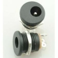 2 Pezzi DC Power Jack Socket DC-022 2.1 x 5.5 mm with Screw Nut DIY 180-Degree