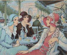 Counted Cross Stitch ART DECO LADIES in Paris - COMPLETE KIT  #1-119