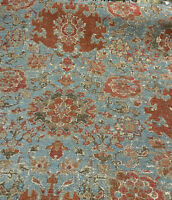 Swavelle Pardesh Antique Rust Teal Chenille Fabric by the yard