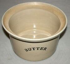 Original 1900's English Lowatts Langley Stoneware Advertising  Large Butter Dish