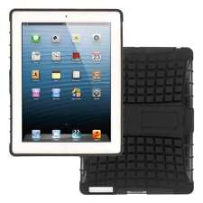 MPERO Collection Tough Rugged Stand Black Case for Apple iPad 3 4 Retina Display