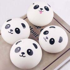 2PCs Cute Panda Emoji Squeeze Jumbo Squishy Bun Slow Rising Toys Gift 4CM