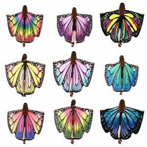 Adult Fairy Butterfly Wings Cape Shawl Pixie Cloak Costume Fancy Dress Party UK