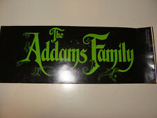 The Addams Family 1991 Paramount Pictures Movie Promotional Bumper Sticker
