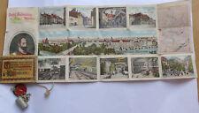 Miniature Mémoire Chope à Bière Hofbrauhaus Munich de 1906 avec Prospectus