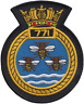 771 NAS Naval Air Squadron Royal Navy FAA Crest MOD Embroidered Patch