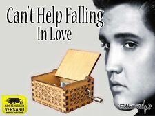 Cant help falling in love ELVIS PRESLEY Spieluhr Musikuhr Musicbox Spieldose Neu