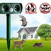 Outdoor Solar Ultrasonic Animal Repeller Pest Control Cat Dog Mice Motion Sensor