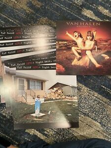 VAN HALEN LIVE RIGHT HERE RIGHT NOW LP PROMO FLAT LOT OF 16 2 sided and BALANCE