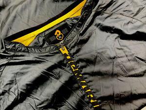 Men's Demarini Baseball Half Zip Long Sleeve Windbreaker Sz XL Black and Yellow