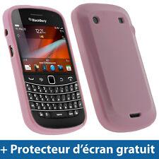 Rose Étui Housse Case Brillant Cristal TPU pour BlackBerry Bold Touch 9900 9930