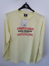 "Mens Canterbury ""Haka War cry"" T-shirt. Yellow Size XL"