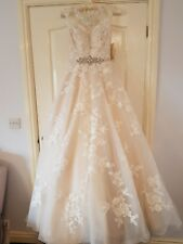 Brand New Ronald Joyce Robyn Wedding Dress Champagne Size 8 Bnwt
