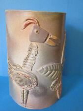 Céramique Vallauris signée KOSTANDA; Vase/applique, oiseau