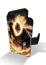 Ghost Rider Demon Face Anti-Hero Wallet Leather Phone Case Cover
