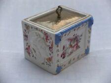 RARE VICTORIAN STAFFORDSHIRE STONEWARE BOX / TOBACCO JAR, BOOTH, HANLEY, 1889.