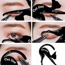 2Pcs Cat Line Pro Eye Makeup Tool Eyeliner Stencils Template Shaper Model Hot