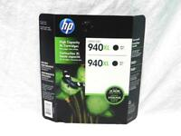 HP 940XL Black 2 Printer Ink Cartridges High Yield 940 XL NEW Officejet Pro
