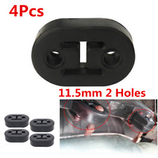 2 Holes Car Exhaust Tail Pipe 11.5mm Universal Mount Brackets Hanger Insulator