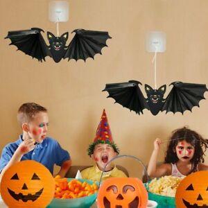 1/2Pcs Halloween Paper Bat Hanging Ornament Props for Halloween Decoration UK