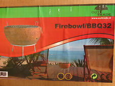 Grill mit Rost Holz Barbecue BBQ Feuerschale Holzkohlegrill Mini Kugelgrill