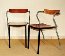 PASCAL & OLIVIER MOURGUE ed ARTELANO : Paire fauteuils 1980 French Design Chairs