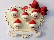 You Can Personalize Heart Stocking Caps Family of Five 5 Christmas Tree Ornament