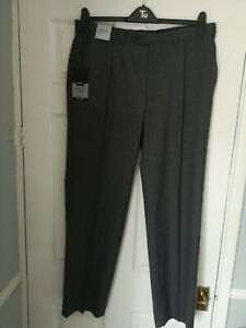 M&S Collection Mens Wool Blend Trousers 36w 31 leg