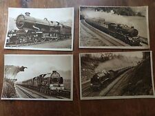 Collection of  4 vintage  train post cards