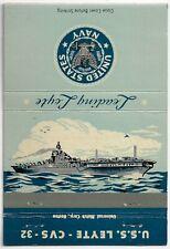 Front 40 Strike Matchcover USS Leyte CVS-32 Essex-class aircraft carriers WWII