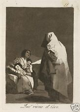 Here Comes the Bogeyman Goya, Mother and Children 7x5 Inch Print