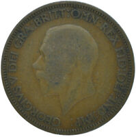 1928 HALF PENNY OF GEORGE V.     #WT15635