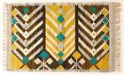 FIREFLY Geometric Modernist Vintage Polish Folk Art Textile Wall Hanging / Rug