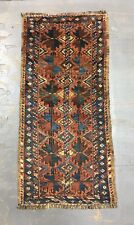 Old Antique Handmade Baluchi Balisht Mat 3.2x1.6 Ft