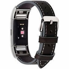 Fullmosa Compatible Fitbit Charge 2montre Band, cuir véritable Bracelet de