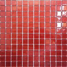 Red Glitter Mosaic Tiles Bathroom Basin Shower Splashback Sheets (GTR10128)