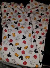 VTG Disney Mickey Mouse Pajama Pants Bottoms Size Medium M Men's White All Over