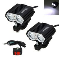 2x 125W LED Headlights Driving Fog Spot Light  Motorcycle ATV Dirt Bike Offroad